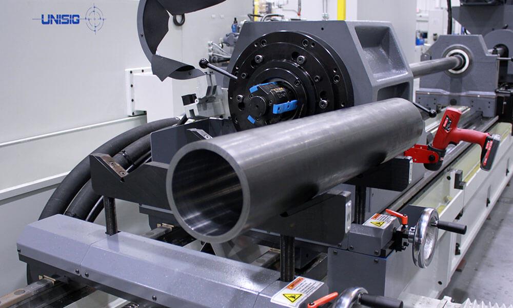 hydraulic cylinder on skiving and burnishing machine