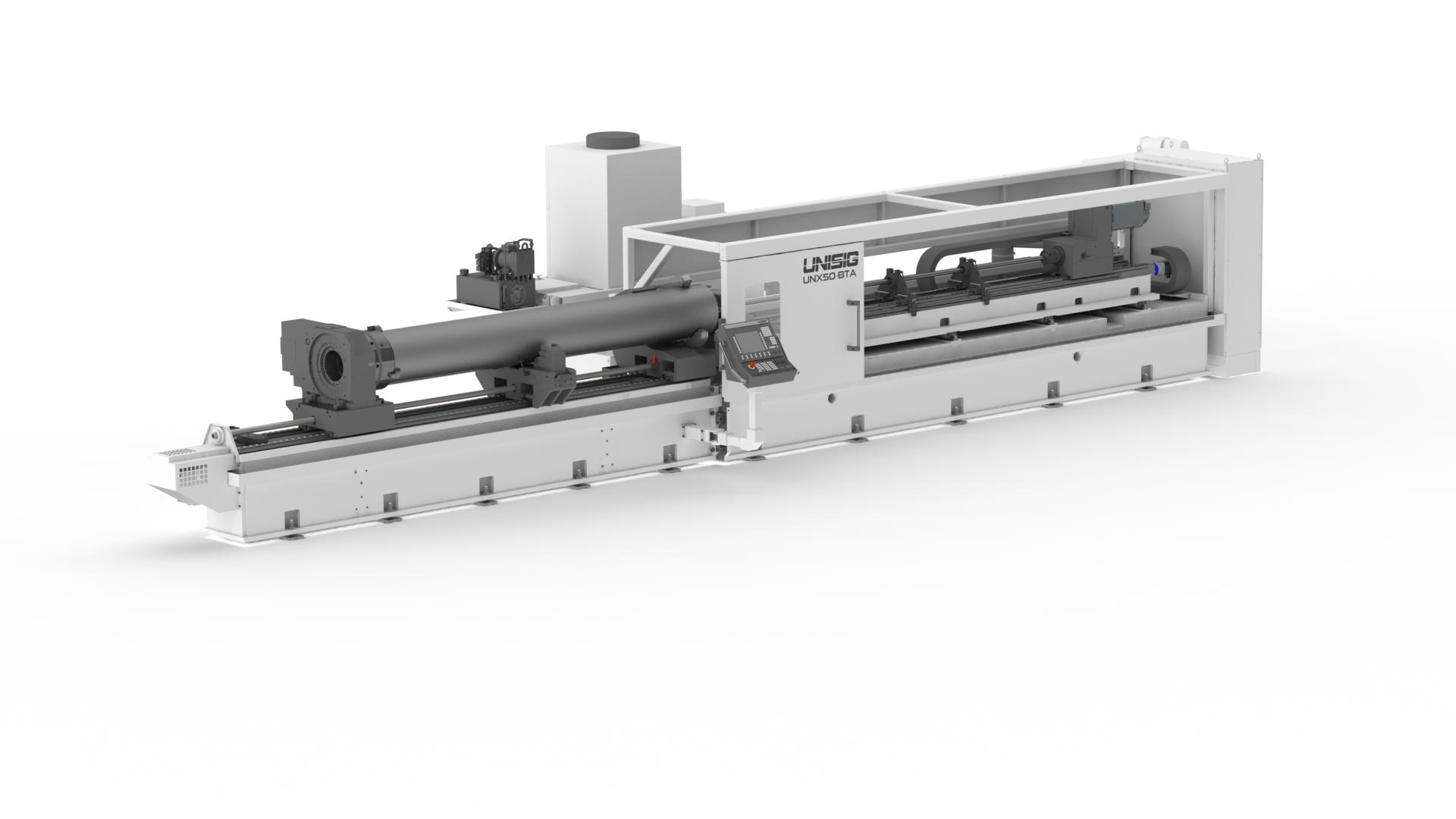UNX50-BTA-workpiece